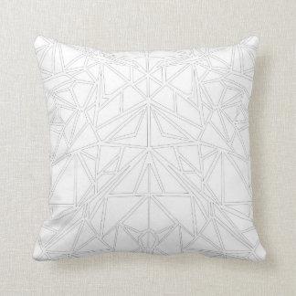 White Machaon Throw Pillow