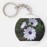 White macro bloom keychain