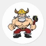 White Mad Viking Sticker