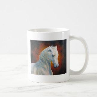 """""""White Magic"""" White Horse Mug"""