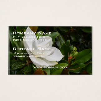 White Magnolia Business Card