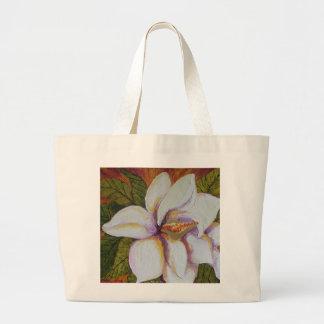 White Magnolia Large Tote Bag