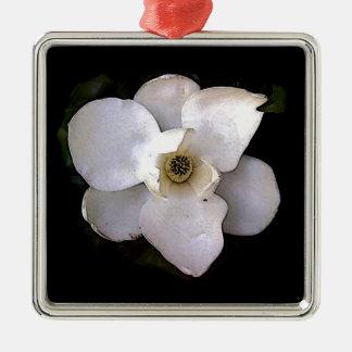 White Magnolia Metal Ornament