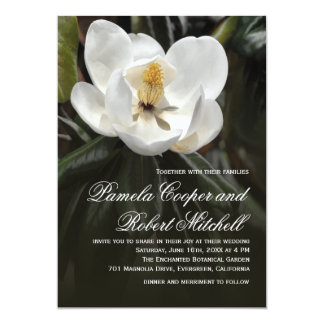 White Magnolia Modern Floral Card