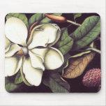 White Magnolia Mousepad, Cool Mousepads