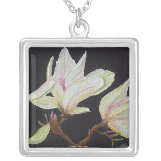 White Magnolia Necklace