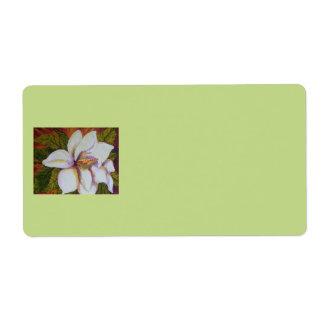 White Magnolia Shipping Label