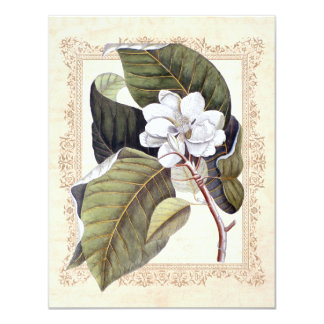 "White Magnolia Southern Wedding Save the Date 4.25"" X 5.5"" Invitation Card"