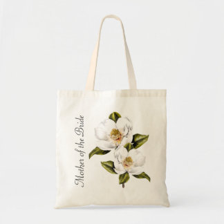 White Magnolias Mother of the Bride Tote Bag