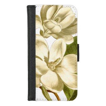 White Magnolias Wallet Case