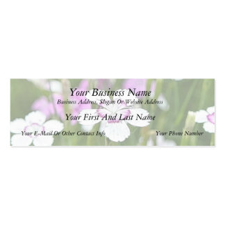 White Maiden Pinks Double-Sided Mini Business Cards (Pack Of 20)