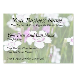 White Maiden Pinks Large Business Cards (Pack Of 100)