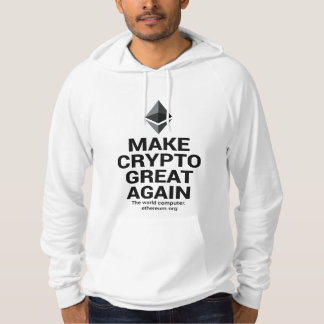 White Make Crypto Great Ether Hoodie