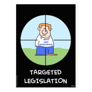 white male heterosexual targeted legislation postcard