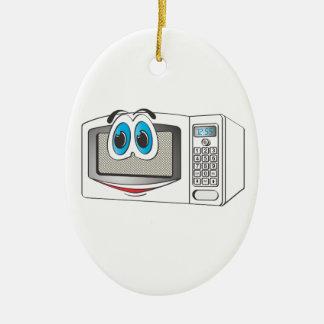 White Male Microwave Cartoon Ornaments