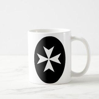 White Maltese Cross Classic White Coffee Mug