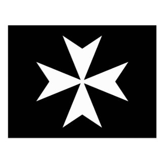 White Maltese Cross Postcard