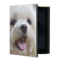 White Maltese Dog iPad Cover