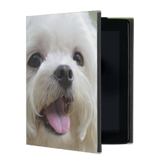 White maltese dog sticking out tongue iPad cases