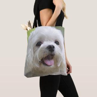 White Maltese Dog Tote Bag