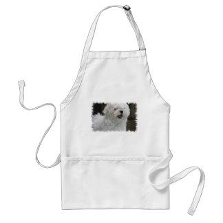 White Maltese Puppy Apron