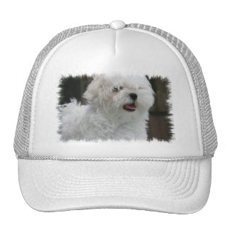 White Maltese Puppy Baseball Cap Trucker Hat