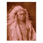 White Man Runs Him - Crow Post Card