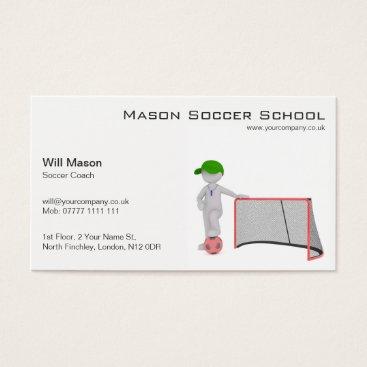Beach Themed White man, Soccer Coach Business Card