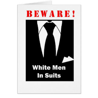 WHITE MAN SUITS CARD