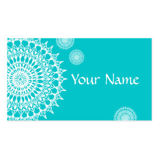White Mandala Double-Sided Standard Business Cards (Pack Of 100)