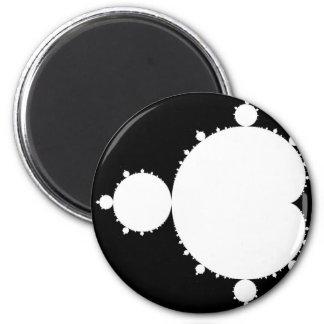 White Mandelbrot Magnet
