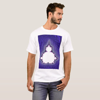 white mandy blue background T-Shirt