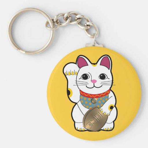 white_maneki keychain