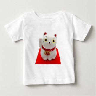 White Maneki Neko on a Red Carpet T Shirt