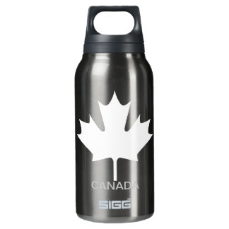 White Maple Leaf Canada - Insulated Water Bottle