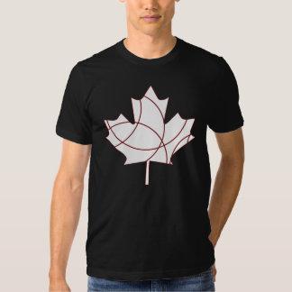 White maple leaf t-shirt