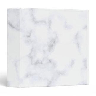 White Marble 3 Ring Binder