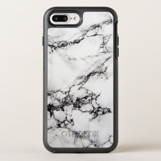 White Marble Beautiful Abstract Texture OtterBox Symmetry iPhone 7 Plus Case