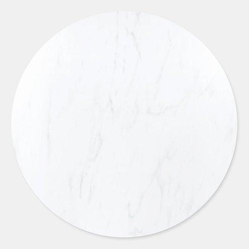 White Marble Blank Template Modern Elegant Classic Round Sticker