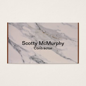 Professional Business White Marble Business Card