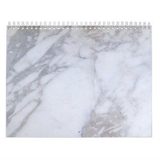 White Marble Calendar