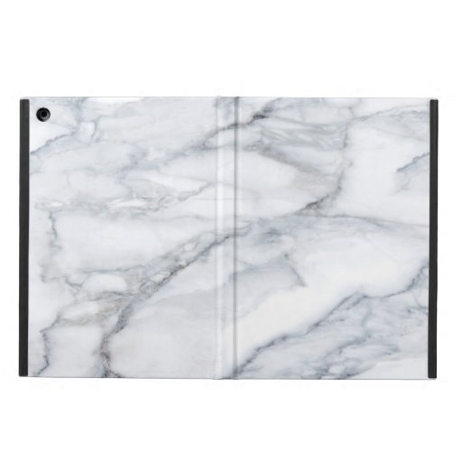White Marble Carrara Calacatta Texture Case For iPad Air