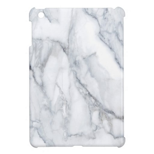 White Marble Carrara Calacatta Texture Case For The iPad Mini