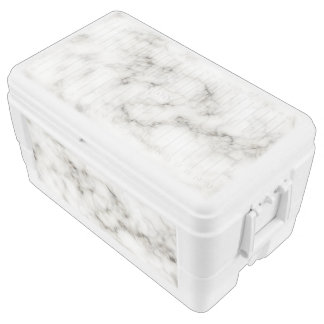white marble chest cooler