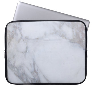 White Marble Computer Sleeve