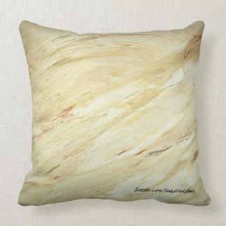 White Marble Faux Stone Pattern Throw Pillows