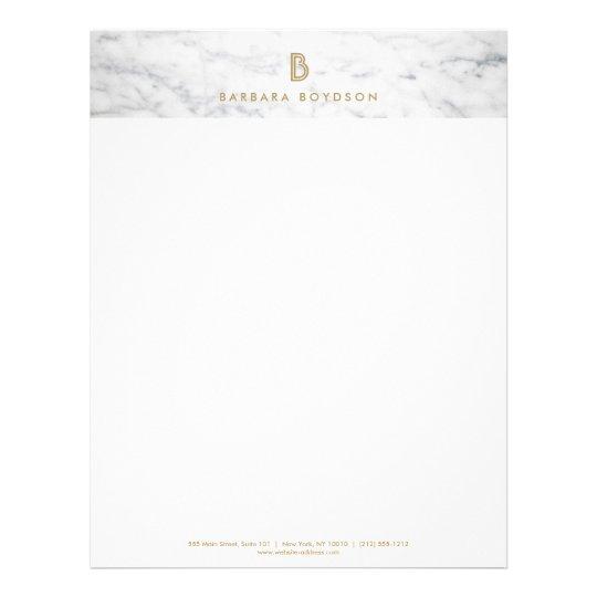 WHITE MARBLE INTERIOR DESIGNER Letterhead