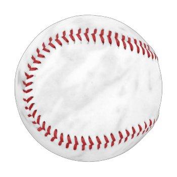 White Marble Look Baseball