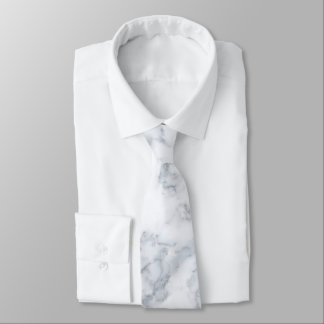 White Marble Look Tie