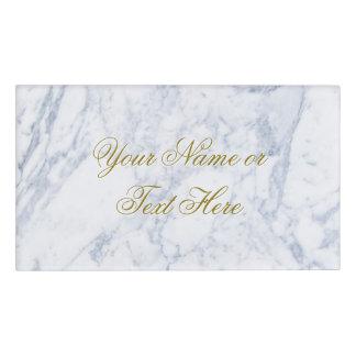 White Marble Name Tag